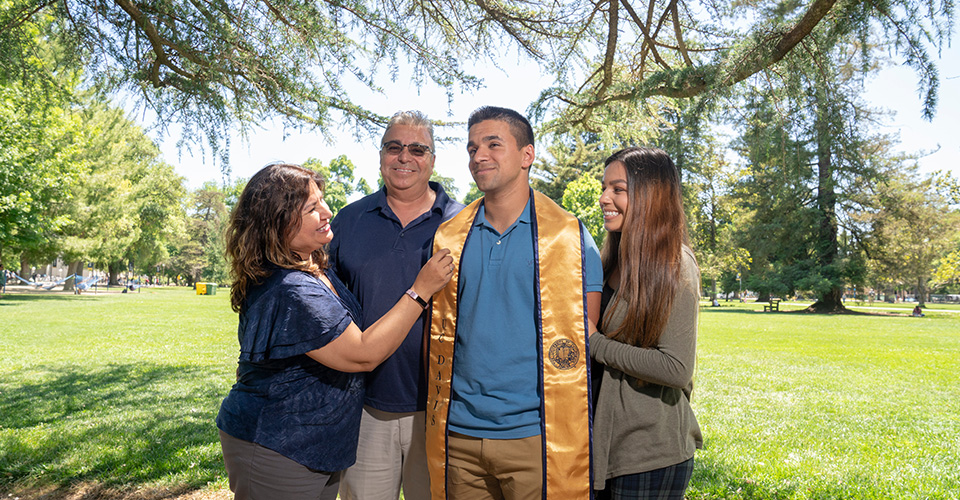 family photos at commencement day uc davis
