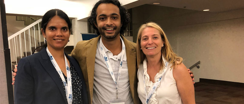 Three attendees at One Health Congress