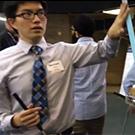 Student at Engineering Design Showcase