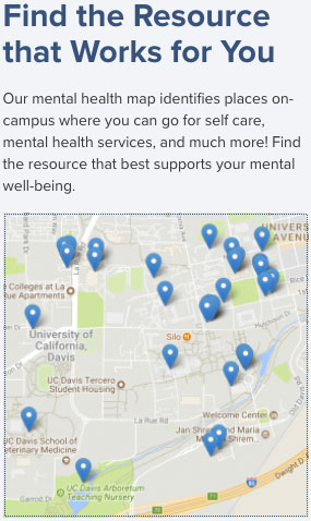 Portion of mental health services map