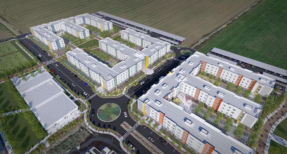 Apartment complex, artist's rendering