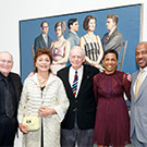 Group photo with Wayne Thiebaud painting