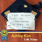 Ashley Kim's winning grad cap design