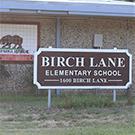 Birch Lane Elementary School sign