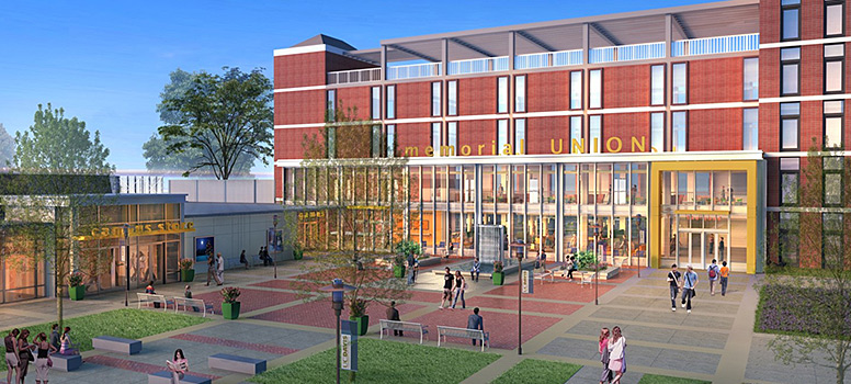 A rendering of the memorial Union Renewal
