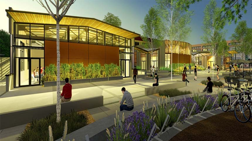 A rendering of theWalker hall Renewal