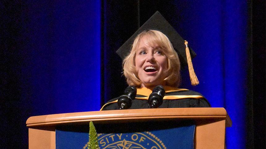 Diane Bryant at podium