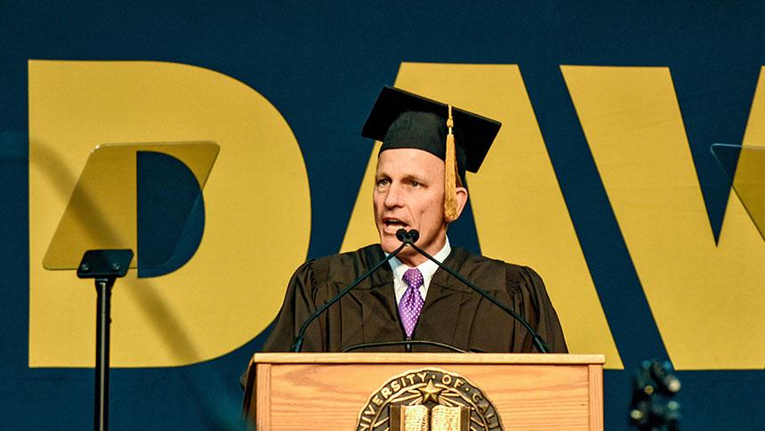 Robert Tucker speaks at commencement